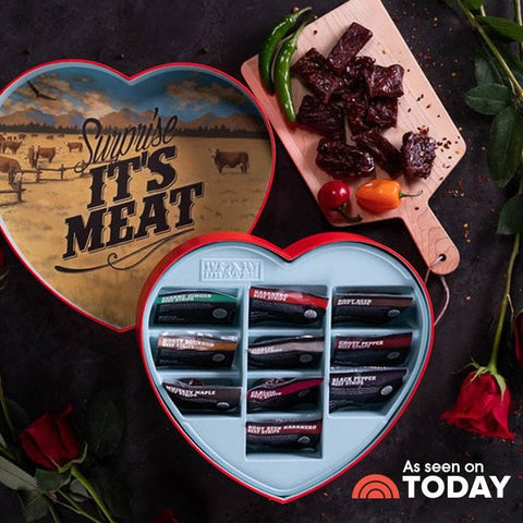 valentines day gift heart with jerky