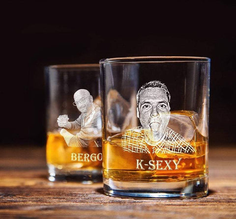 Whiskey picture glass