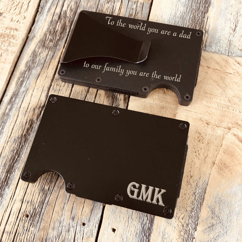 Engraved Fathers Day Wallet Message