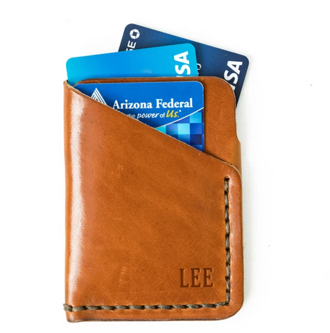 Genuine leather custom Front pocket wallet