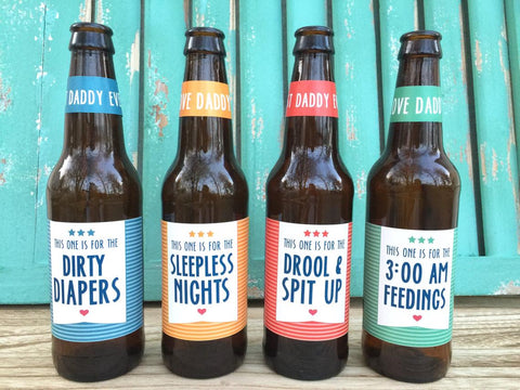 fathers day new dad beer labels