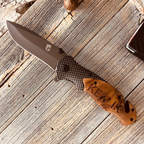 Personalized Knife Gift Carbon Fiber