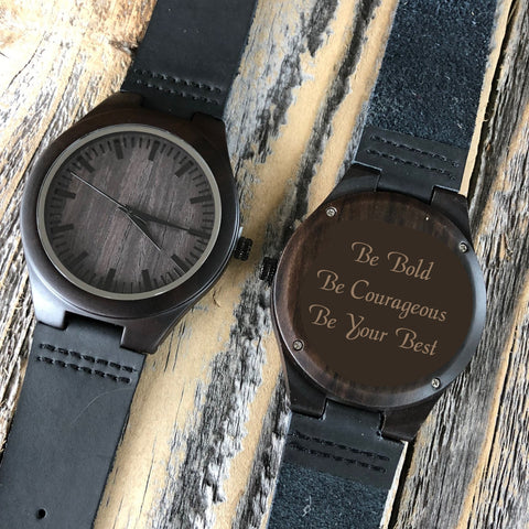 Watch with Custom Message for Graduation Gift
