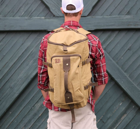backpack for him with initials
