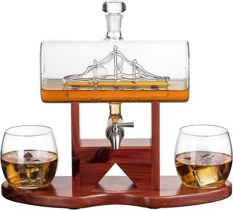 Ship Whiskey Decanter Set Gift