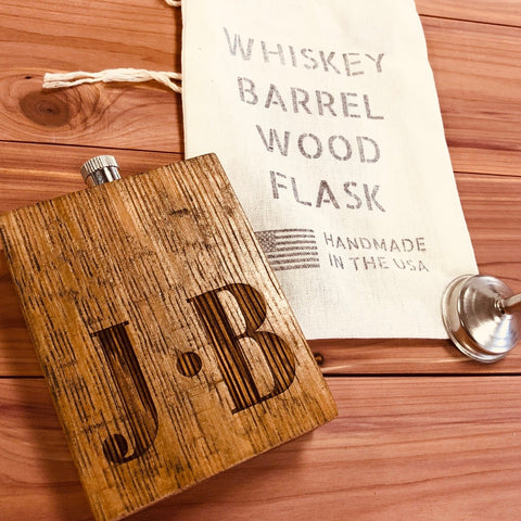 Whiskey Barrel Flask