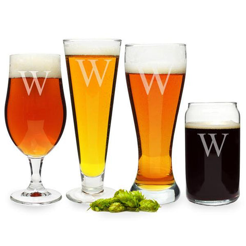 Engraved Beer Glass Set