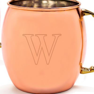 Engraved Copper Moscow Mule Mugs