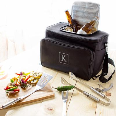 Personalized Cooler and Grill Set