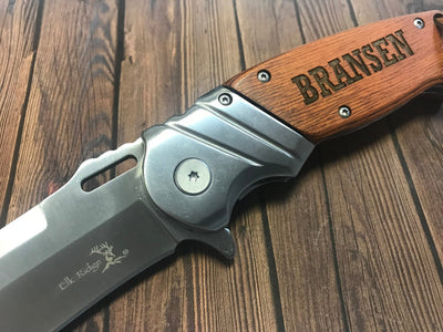 Engraved knife