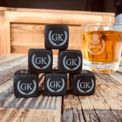 personalized whiskey stones with custom engraving
