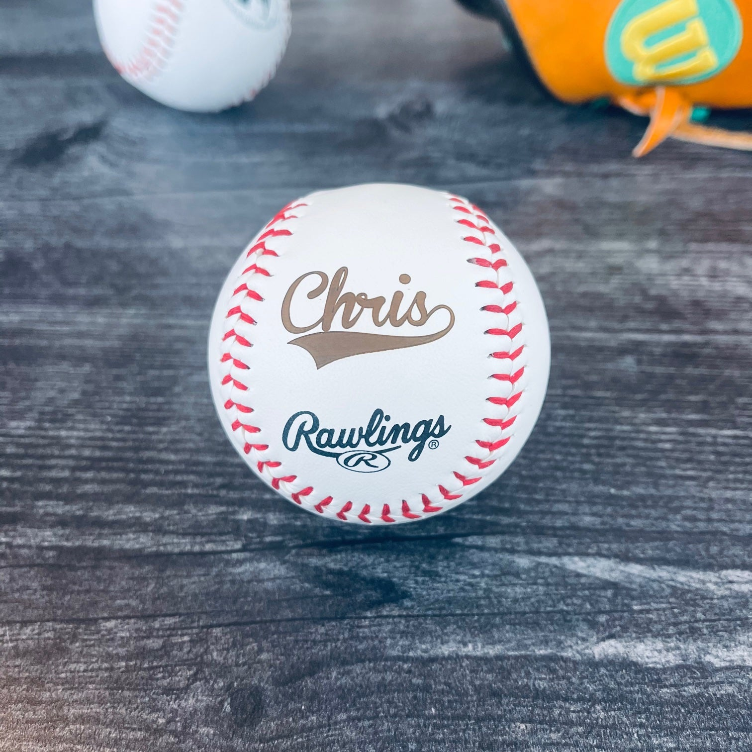 Personalized Rawlings Baseball