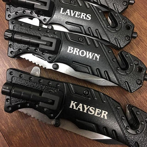 Personalized Knife with Flashlight