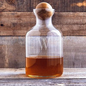 Wood Stopper Whiskey Decanter