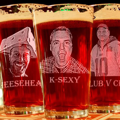 Picture Engraved on Pint Glass