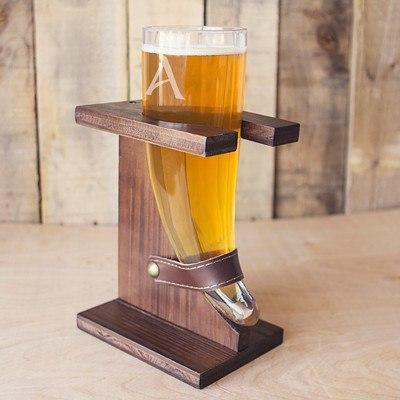 Viking Beer Horn Glass
