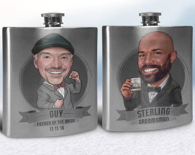 Personalized Caricature Flask