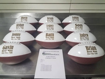 Group of Personalized Footballs