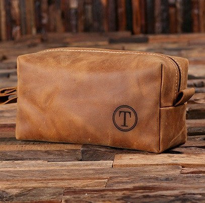Personalized Leather Toiletry Bag - Gift for Men - 100 Personalized ... 9b6a21cc7ec1c