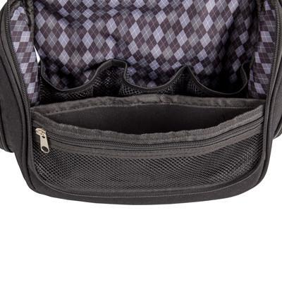 Black Engraved Toiletry Bag