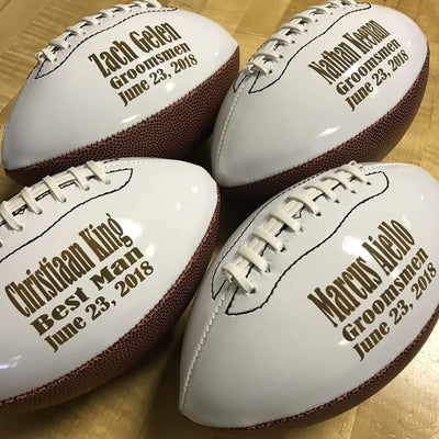 Four Personalized Footballs