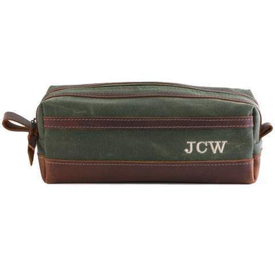Olive Green Personalized Travel Kit
