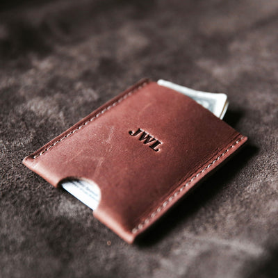Brown Leather Minimalist Wallet