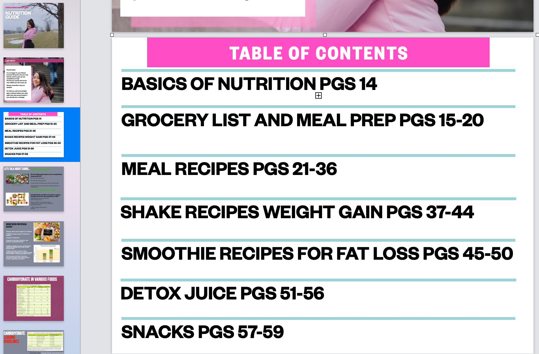Nutrition Guide - LIZTHEFIT