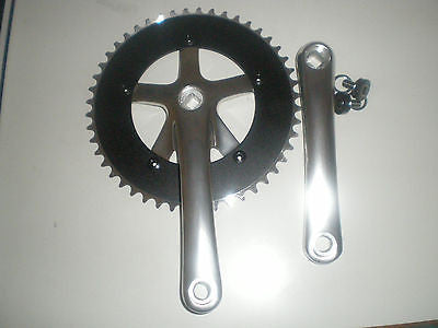 "Lasco Single ring chainset track single speed 44T 46T 48T 1/8"" 165mm"