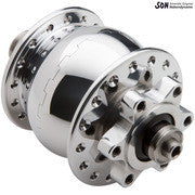 Schmidt SON28 disc brake hub 6 bolt polished silver