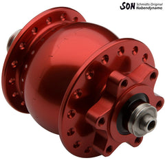 Schmidt SON28 disc brake hub 6 bolt red
