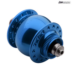 32H Schmidt SON 28 disc brake dynamo hub centrelock or 6 bolt, thru axle or quick release.