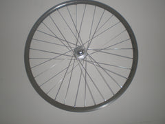 H Plus Archetype fixed gear or single speed wheelset with Miche large flange hubs.