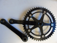 "Andel Track/single speed black or silver 1/8"" track crankset 144BCD fluted 165mm 170mm"