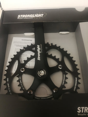Stronglight Impact compact double chainset  9-10 speed square taper - black