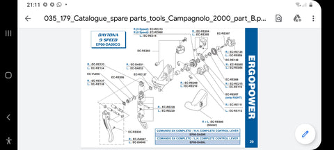 Campagnolo EC -RE112 left ergo spring housing