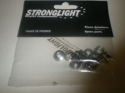 Stronglight Chrome M8 chainring bolts single double  or triple
