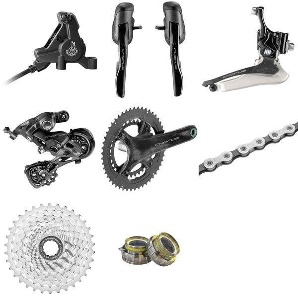 Campagnolo Chorus 12 speed groupset for disc brake with AFS rotors.