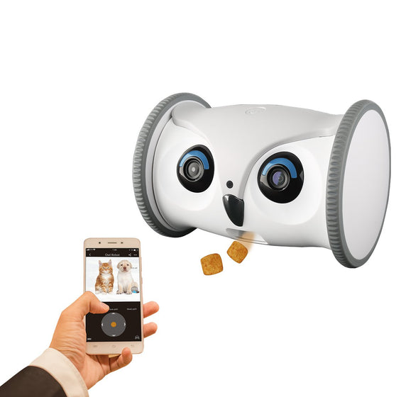 Skymee Owl Robot Automatic Pet Feeder