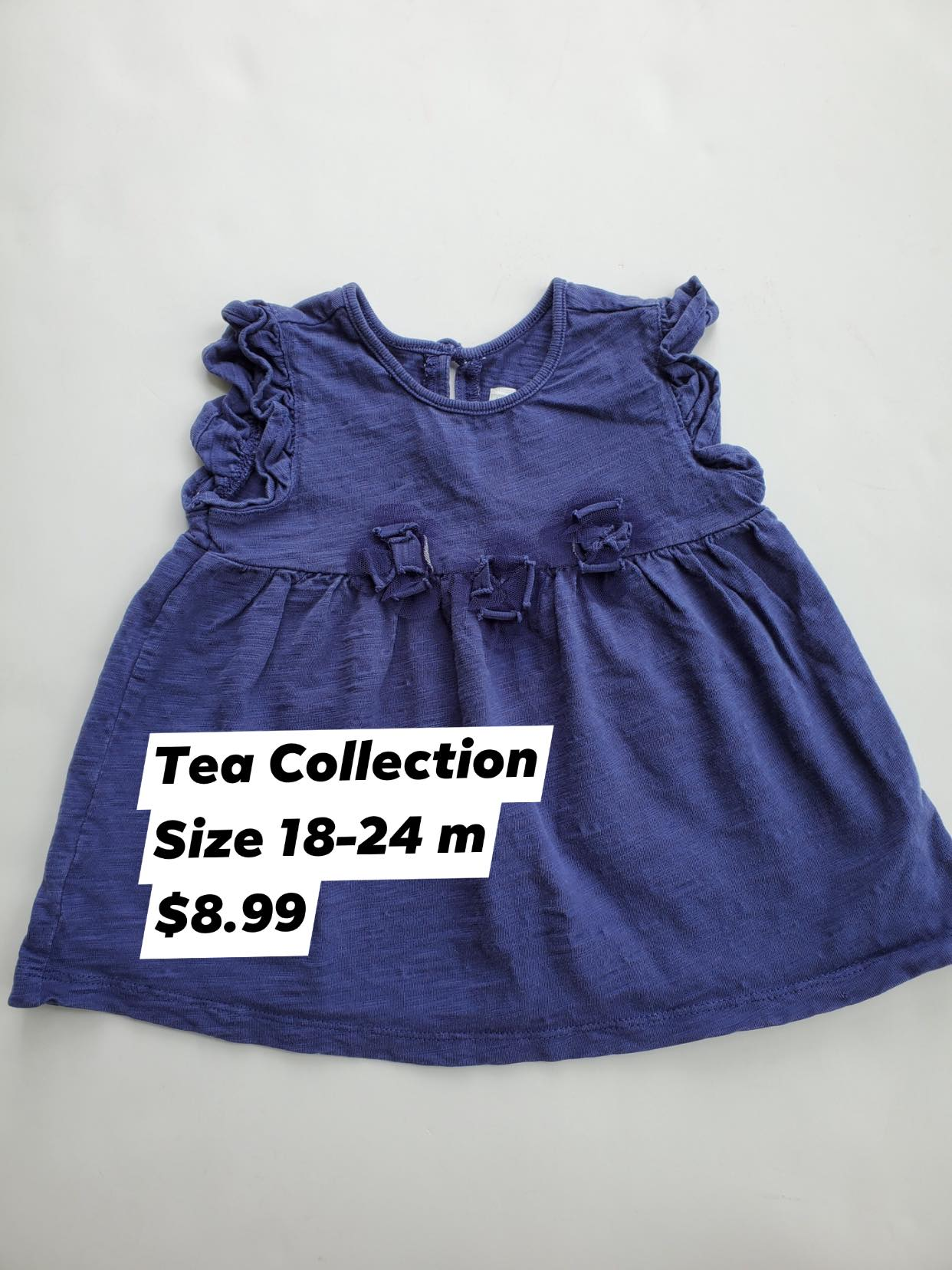 Resale 18-24 m Tea Collection Indigo Shirt
