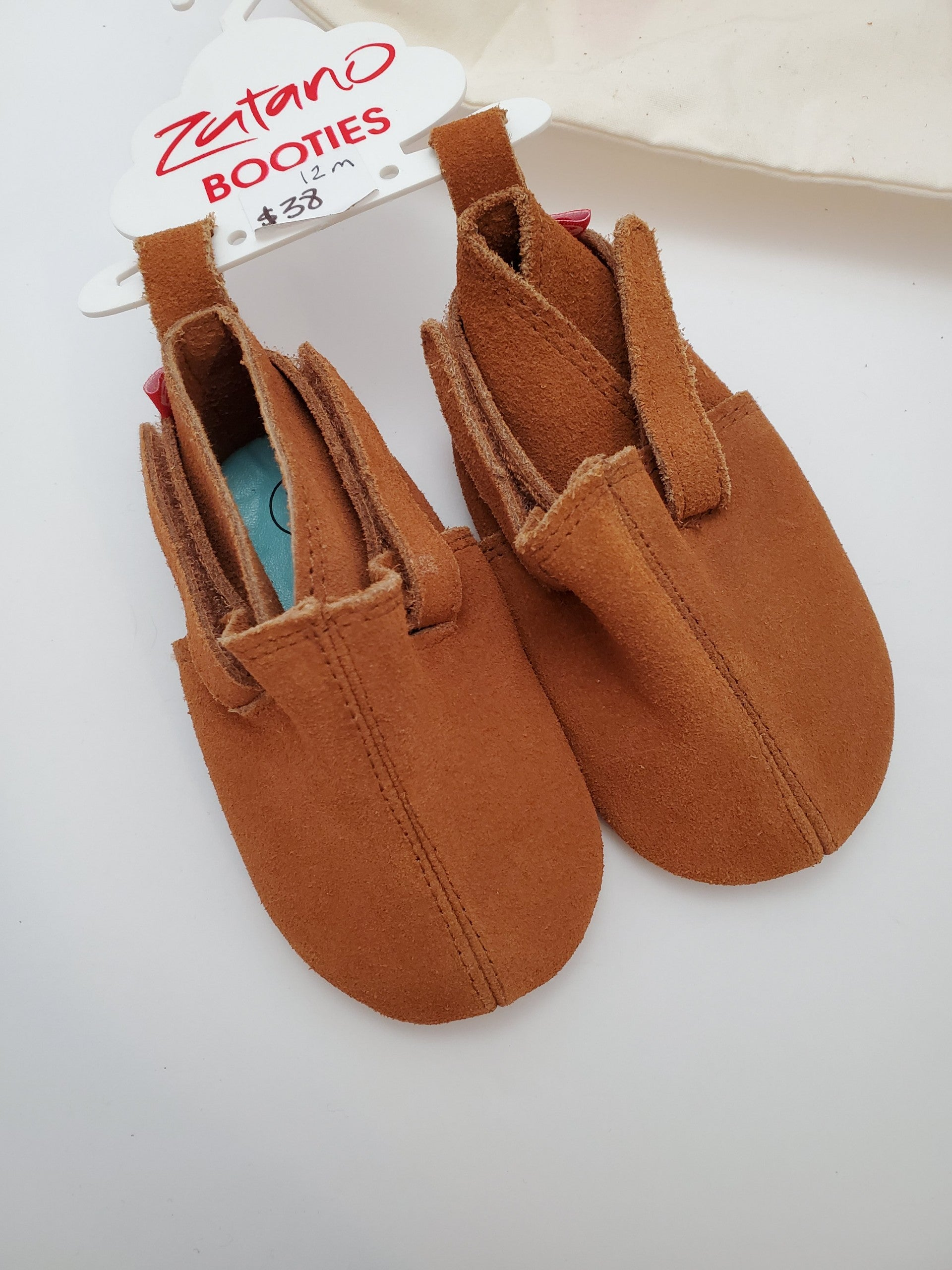 Zutano Suede Baby Shoes - Tan
