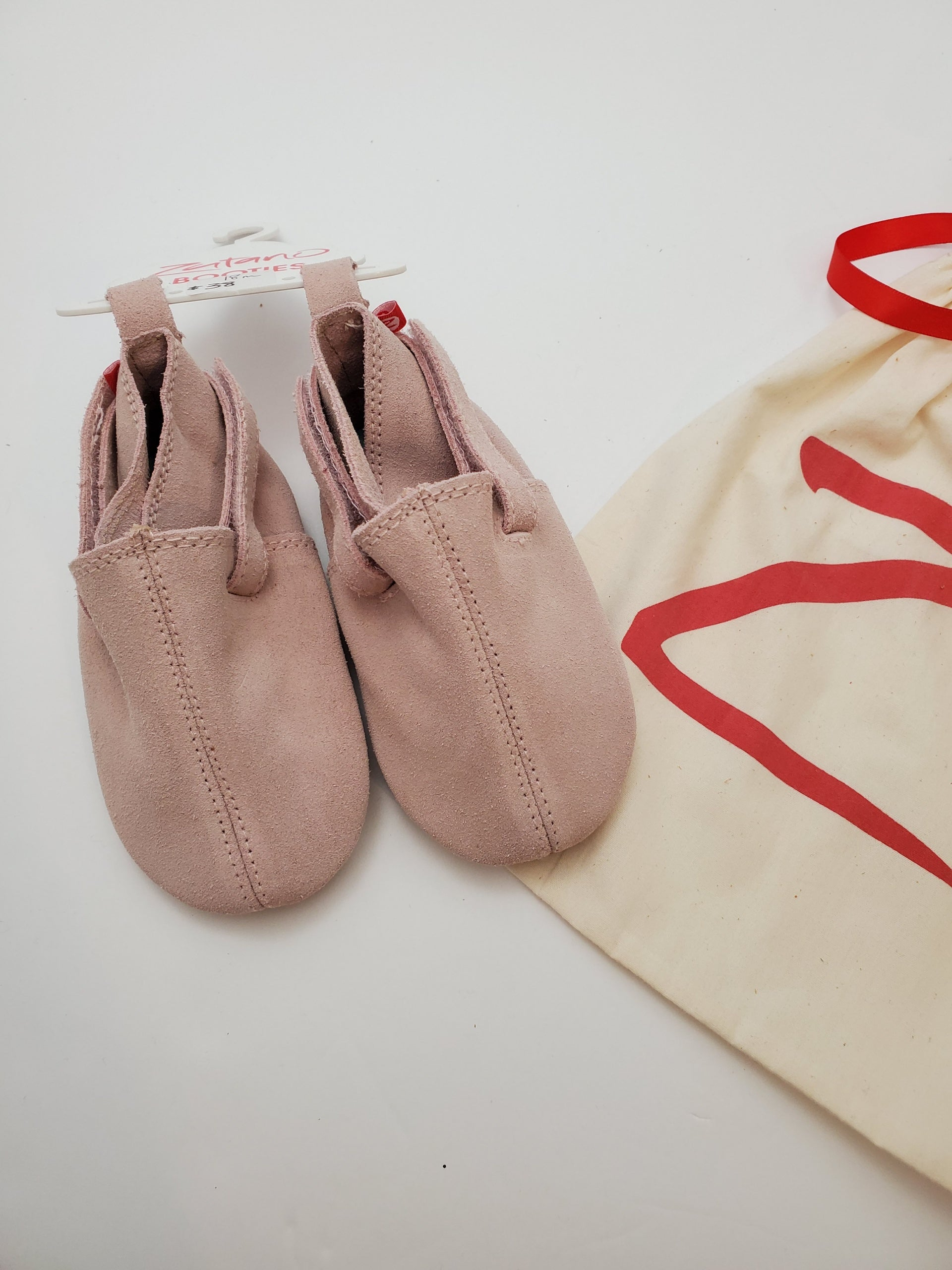 Zutano Suede Baby Shoes - Dusty Pink