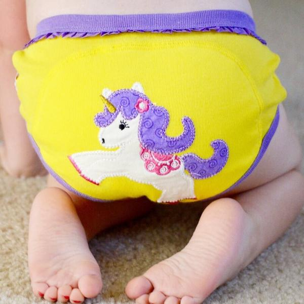 "ZOOCCHINI 3pc Organic Cotton ""My First Pair of Underwear"" Potty Training Pants Set - Fairy Tails"
