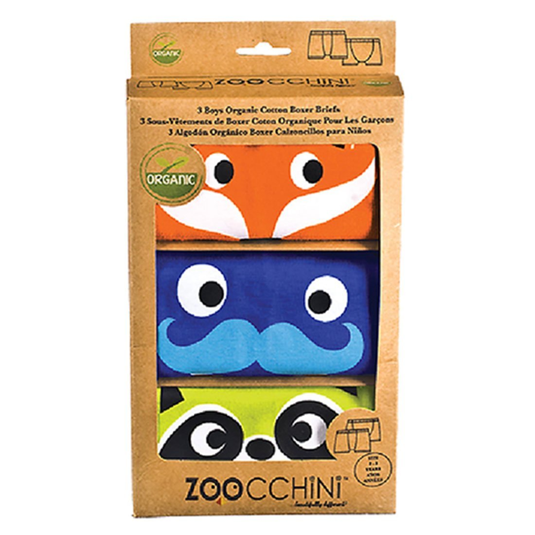 ZOOCCHINI 3pc Organic Cotton Boxers Set - Crazy Critters