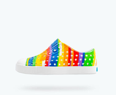 Native Jefferson - Shell White/Rainbow Mulit Stripes