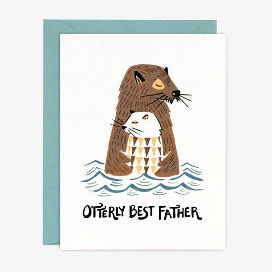 Otterly Best Father Card
