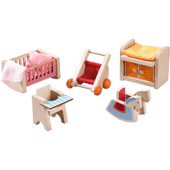 HABA Little Friends Dollhouse Furniture Baby's Room