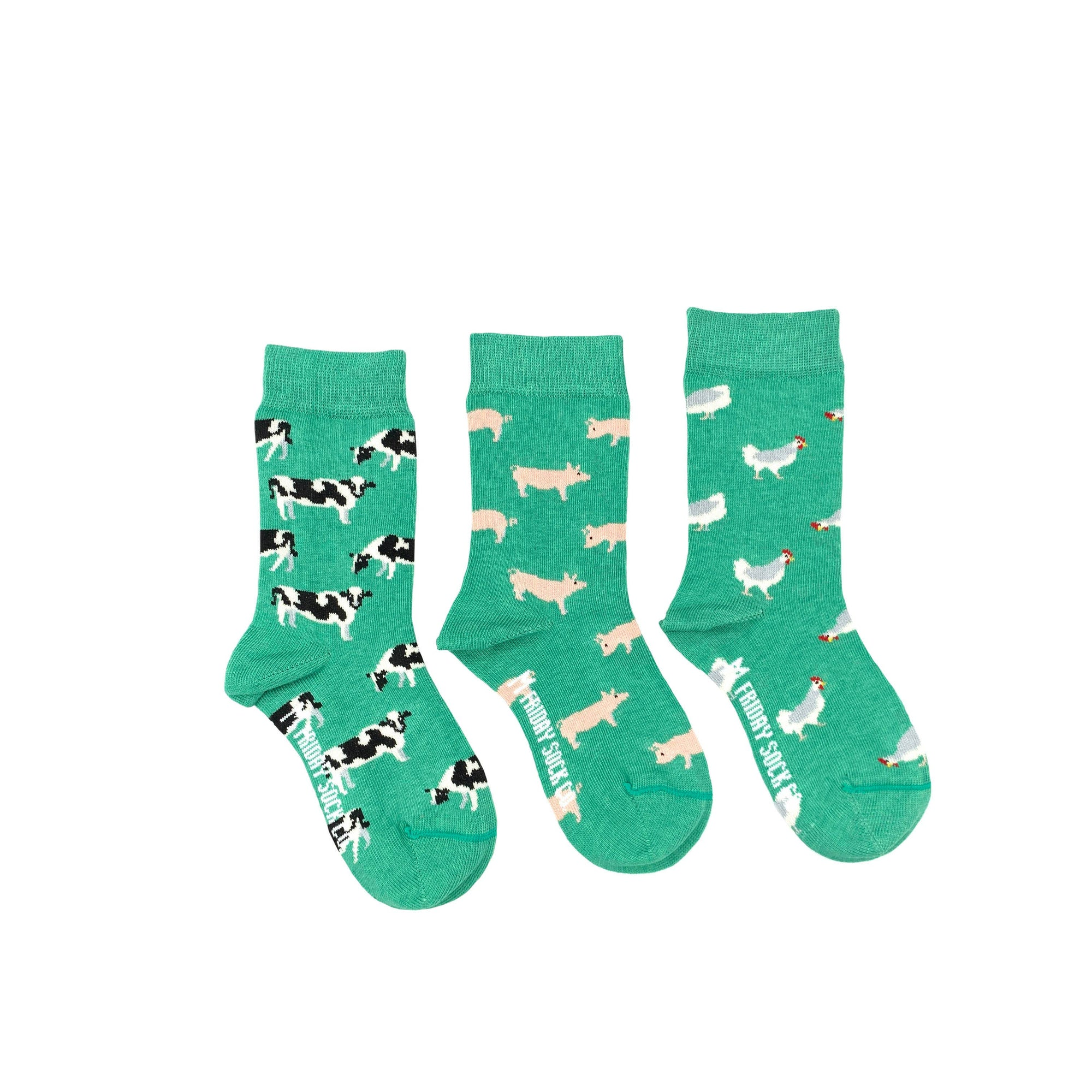 Friday Sock Co. Kid's Socks | Farm Animals | Mismatched