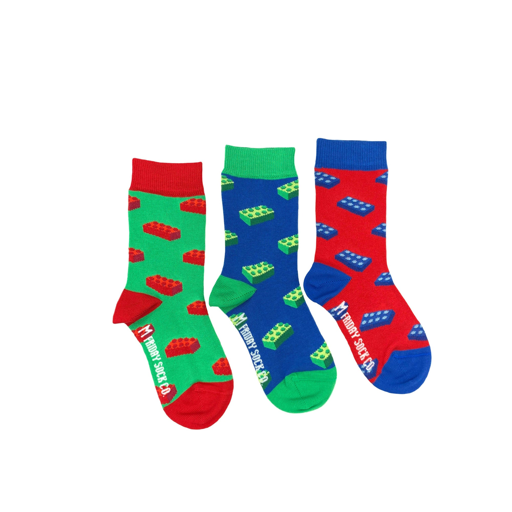 Friday Sock Co. Kid's Socks | Building Blocks | Mismatched