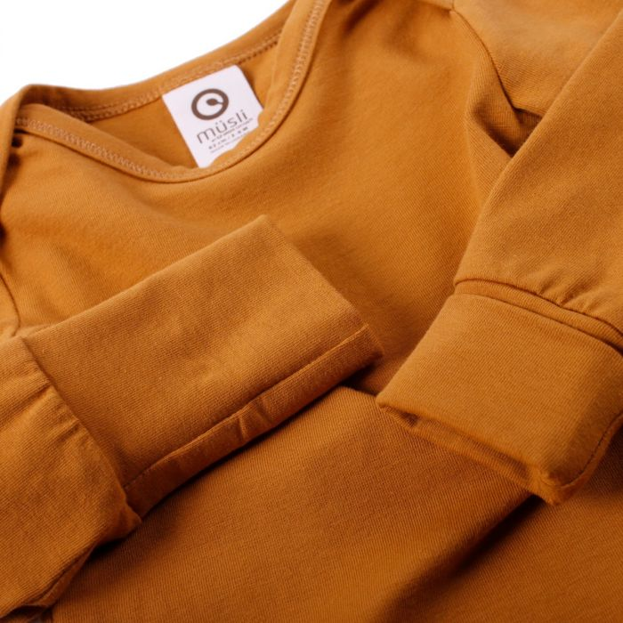 Müsli Cozy Me Solid Color Long-Sleeve Bodysuit - Wood